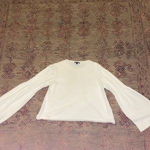 Top shop white balloons sleeve sweater